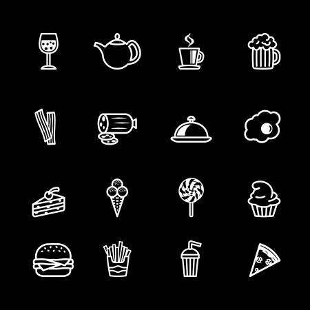 bacon and eggs: computer icon set