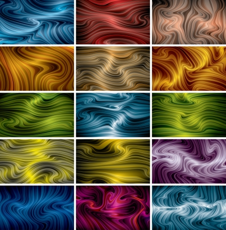 vector abstract background set  eps10, CMYK colors Stock Vector - 18592649