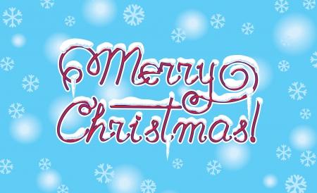 Merry Christmas hand lettering  vector, CMYK  Vector