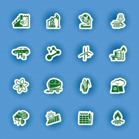 turba: vector energético icon set renovable