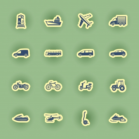 transport icon: vector  transport icon set