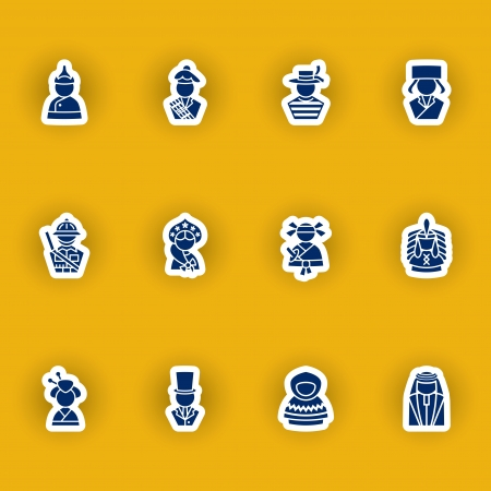 hasid: vector people icon set