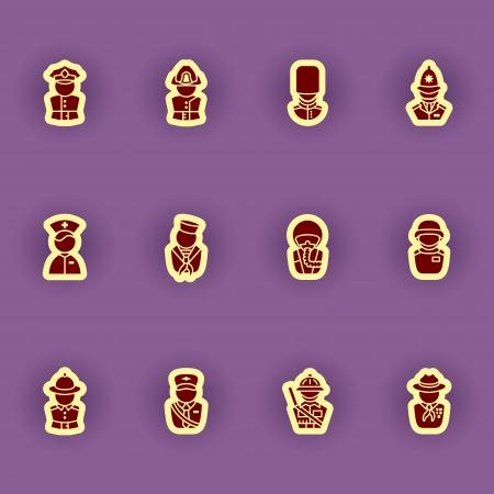 guardsman: vector people icon set