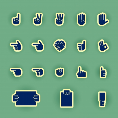 vector hands icon set Vector
