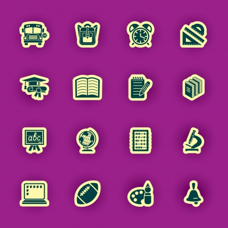 vector school and education icon set Vector