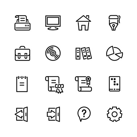 exit icon: computer icon set