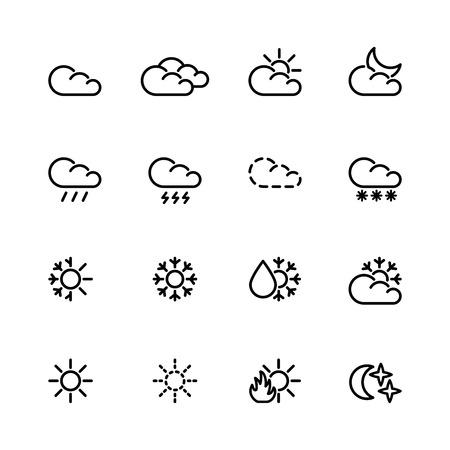 winter thaw: weather icon set Illustration