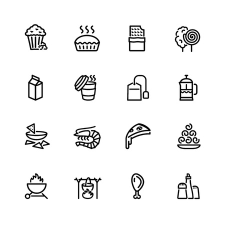 bag icon: food icon set
