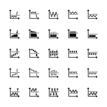 Vingt-cinq noir icônes sur le marché du contour isolé sur blanc Banque d'images - 43574880