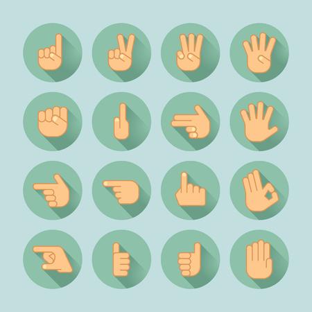 hand icon set Illustration