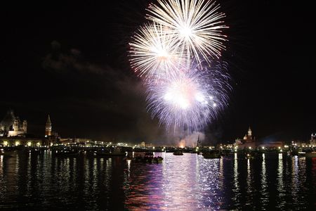 Venice feast of the redeemer fireworks Stock Photo