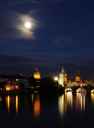Prague by night photo