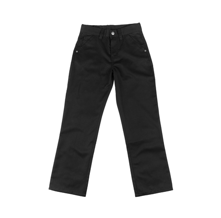 denim trousers: Black cotton denim trousers for men or boy, pants for school uniforms, holidays, celebrations isolated on white background