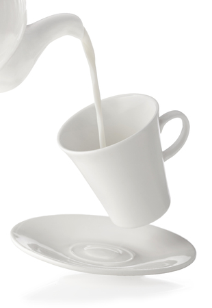 poured milk from jug