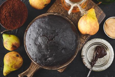 chocolate vegan cake Imagens - 76728308