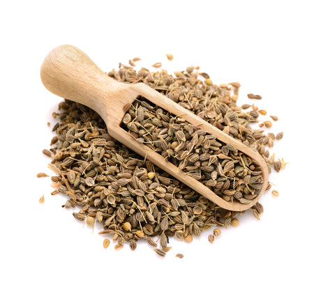 dried anise seed in a scoop for spices Foto de archivo