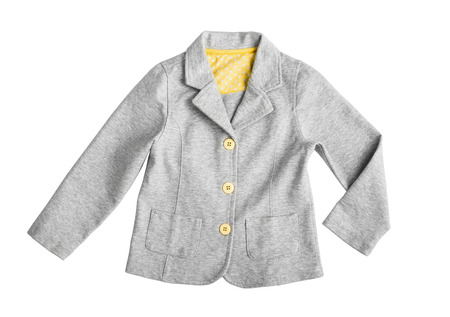 fashionable gray casual suit jacket