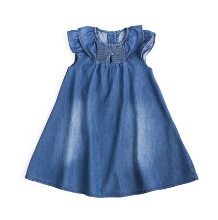 jeans cotton blue dress Imagens - 108721475
