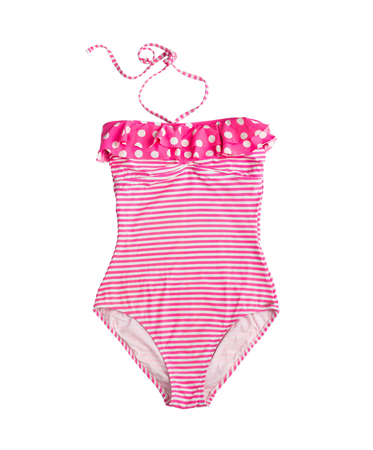 striped pink swimsuit Imagens