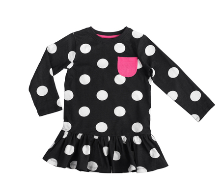 cotton black polka dot dress