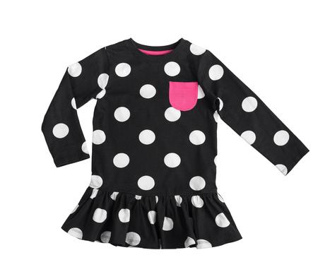 cotton black polka dot dress Imagens - 108721506