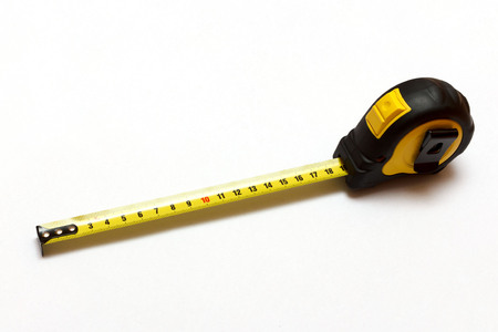 3M tape-measure isolated on a white background