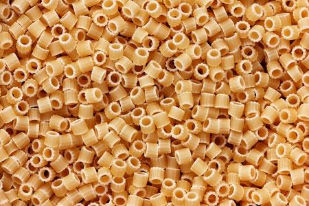 Italian round pasta macro close up background