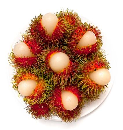 rambutan: Rambutan fruit on isolate background of Thailand  Stock Photo
