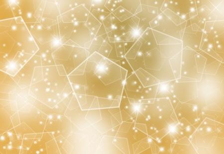 照らす: ゴールドのクリスマス背景