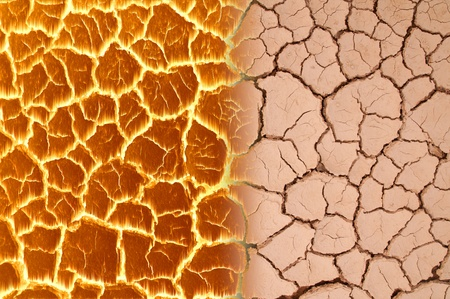 scorched: scorched earth, soil and fire Stock Photo