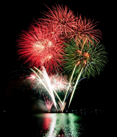 aerial bomb: Fireworks  Stock Photo