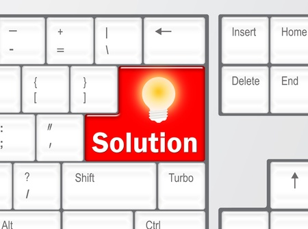 Keyboard with Solution button photo