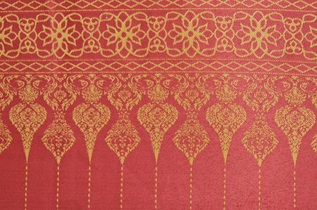 Thai fabrics patterns photo