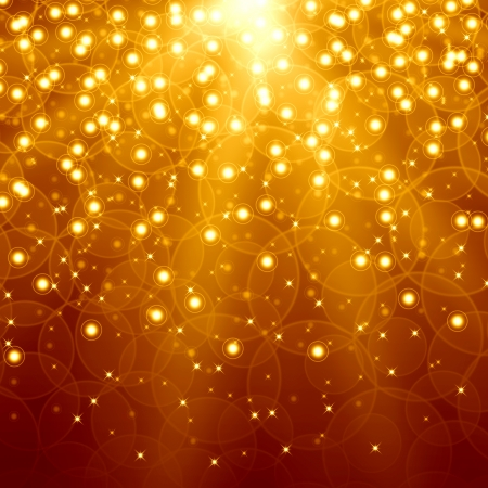 confetti background: Golden christmas background