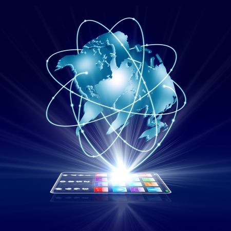 Glass Handy Touchscreen für das globale Geschäft verbinden