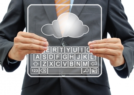 Cloud computing concept isolated on white
