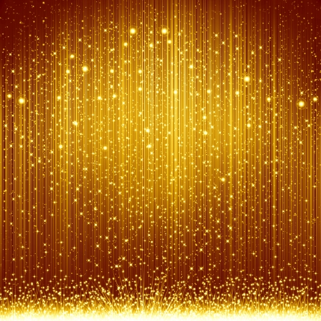 Golden christmas background Stock Photo - 15355409