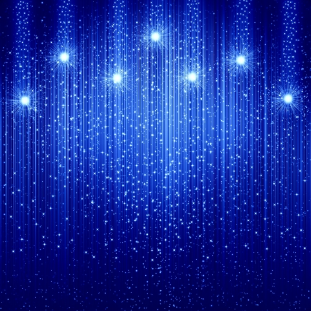 christmas stars: Blue christmas background