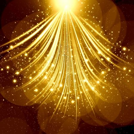 magic book: Golden christmas background