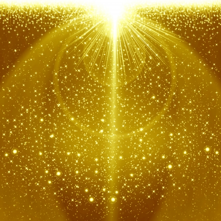 Golden christmas background Stock Photo - 16295638