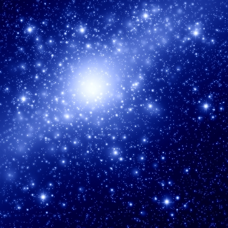 outer space: Space and star background