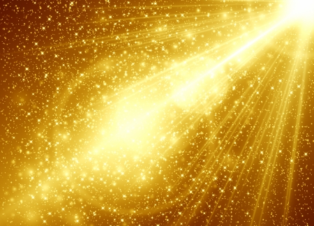 Golden abstract background Stock Photo - 16484903