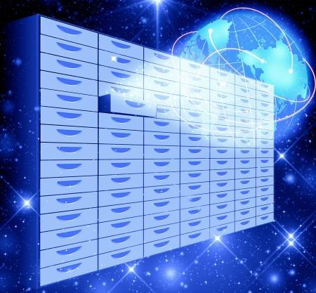 information processing system: Big Data Storage concept Stock Photo