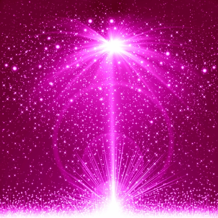 magic book: Pink christmas background Stock Photo