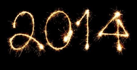 Fireworks New Year 2014 Stock Photo