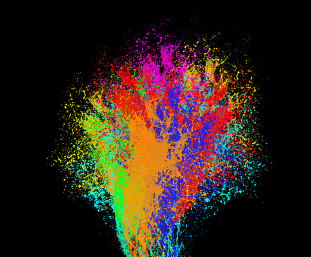 color swatches: Colorful abstract background isolated on black
