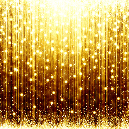 stripe background: golden christmas background with star Stock Photo