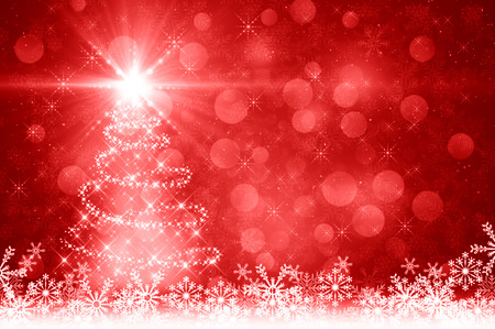 shine background: Red albero di Natale sfondo