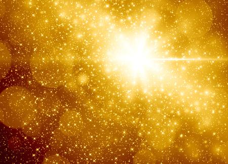 Goldene Weihnachten abstrakten Hintergrund