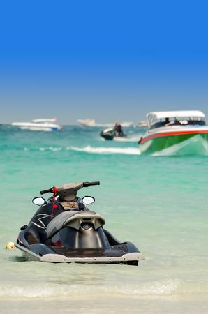 jetski: jetski in Tawaen beach, Koh larn Island, Pattaya, Thailand